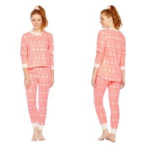New Womens 2 Pc PJ Set with Matching Scrunchie